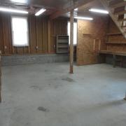 detached garage inside